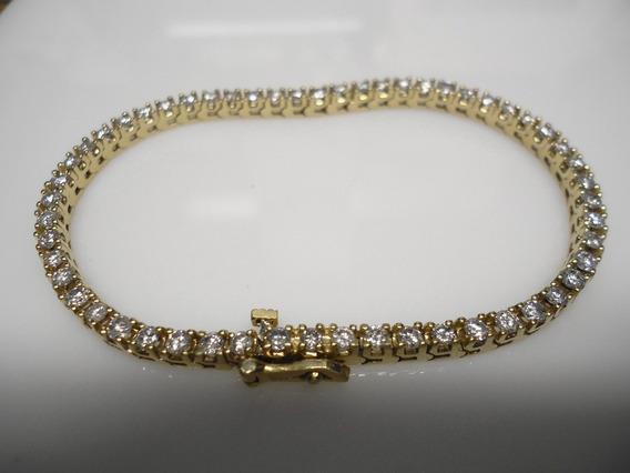 Pulsera Tipotennis Oro 14k. Con 57 Diamantes. Total 2.85ct.