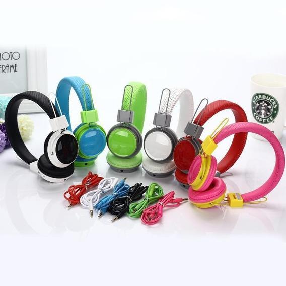 10 Unidades Headphone Exbom Tv-07 Phone Cores Fone De Ouvido