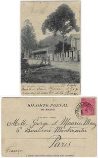 Rj 1905 Cartão Postal Foto Teresópolis Hotel Hygino