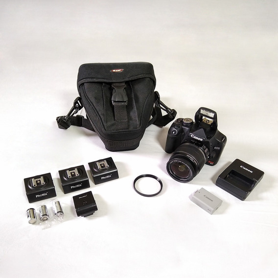 Canon Eos T1i + Lente 18-55 Is + Filtro Uv +rádio Flash   Xg