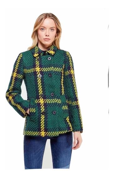 Saco Abrigo Verde Desigual Mujer