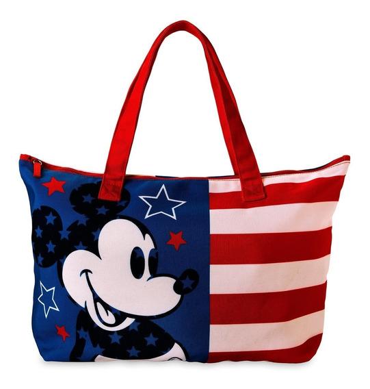 Bolso Tote Lona Mickey Disney Store Original