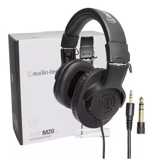Audio Technica Fone Ath - M20x -headphones Profissional/novo