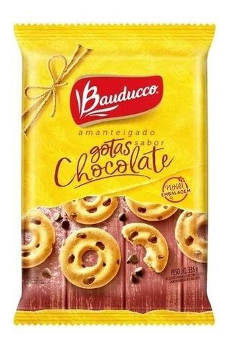 Imagem 1 de 1 de Biscoito Amanteigado Com Gotas De Chocolate Bauducco 335g