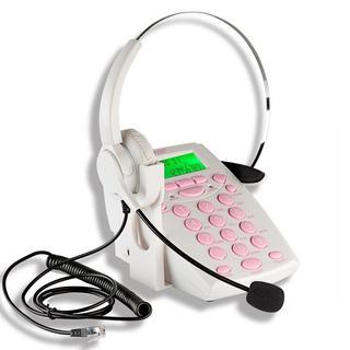 Teléfono Para Call Center Agptek Diadema Y Teclado Numérico
