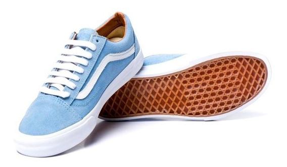 Vans - Tênis Azul Camurça Old Skool Original Promoção