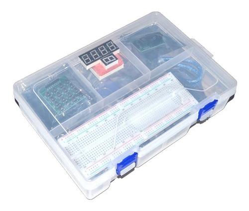 Kit Arduino Uno Starter Pro Con Caja Plastica