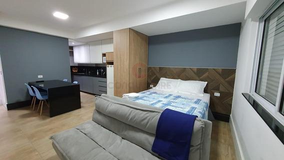 Kitnet Para Locação Em São Paulo, Consolação, 1 Dormitório, 1 Banheiro - Ktfe0416_2-1034881