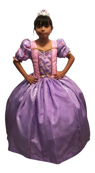 Vestido Rapunzel Princesa Talla 3 A La 8