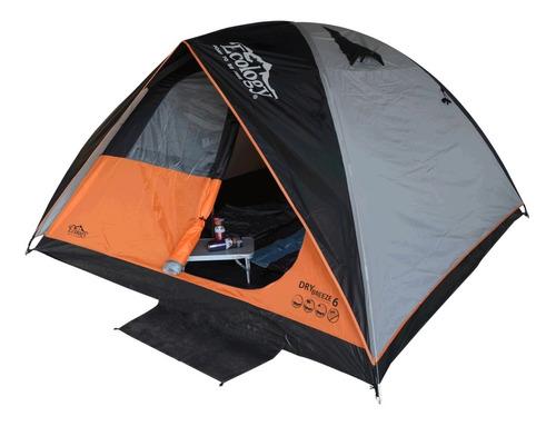Carpa Camping Doble Tendido 6 Personas Familiar Ecology