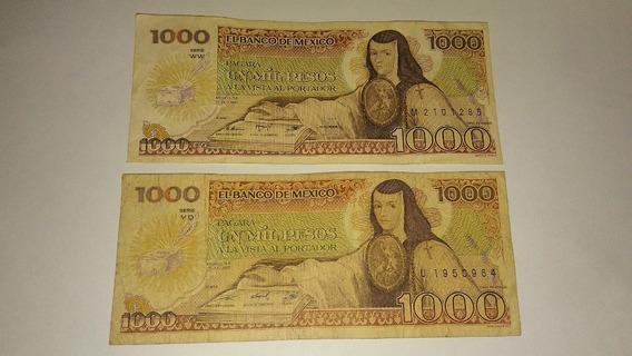 Billete 1000 Pesos 1984 Sor Juana Plaza De Santo Domingo