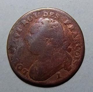 Francia 12 Dineros 1792 I (limoges) Bueno Km 600.5 Luis Xvi