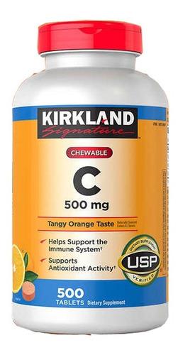 Vitamina C Kirland 500 Tabletas Masticable