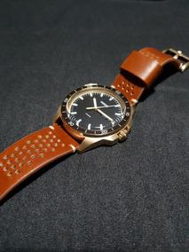 Relógio Fossil Masculino Fs5320 Dourado Couro - Original