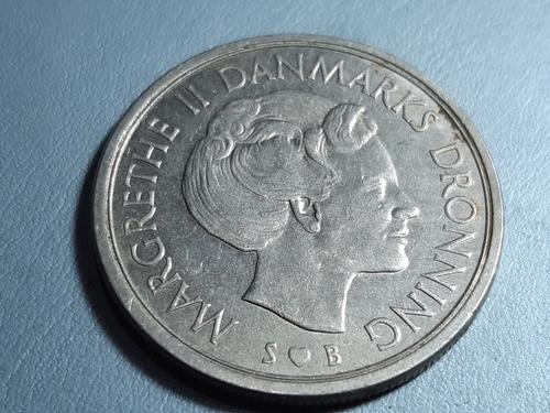 Dinamarca 5 Coronas, 1977 Cuproníquel Km# 863 Lote 4633