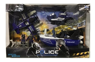 Playset De Policias Grande Con Figuras Y Vehiculos Klm 99343