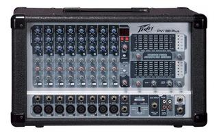 Peavey Pvi 8b Plus Consola Potenciada Mixer 500w Ecualizador