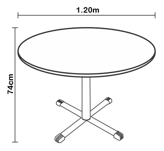 Mesa Reunião / Cozinha Redonda 1,20m