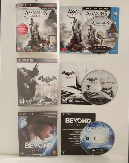 Assassinis Creed Batman Beyond Two Souls Ps3 Completos 3 Jog