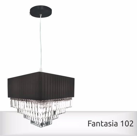Lustre Pendente Luminária Fantasia 102 Quadrado G-light