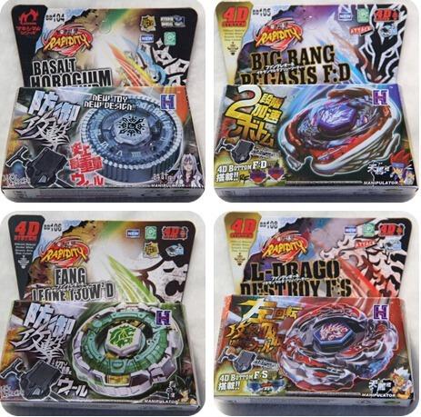 Kit 2 Beyblade 4d + Arena 40 Cm +2 Puxador ( + Brinde )
