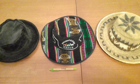 Lote De 3 Sombreros De Hombre Casi Nuevos