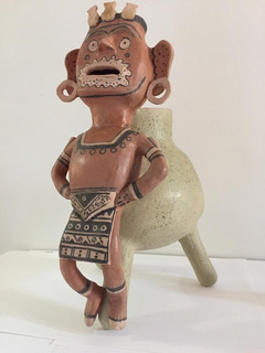 Vasija/urna De Cerámica Precolombina (con Detalles)