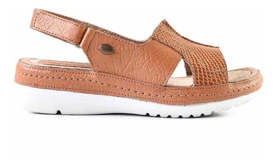 Sandalia Cuero Mujer Briganti Zapato Confort - Mcsd04788 Vp