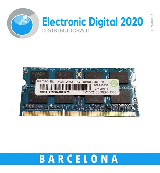 Memoria Ram Laptop Ddr3 4gb 1rx8 Pc3 - 12800s- 11 - 12 - B2