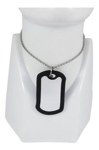 Collar Militar Identificacion Placa Acero Para Grabar