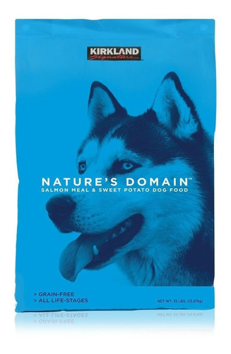 Alimento Kirkland Signature Nature's Domain para perro sabor salmón/camote en bolsa de 15.87kg