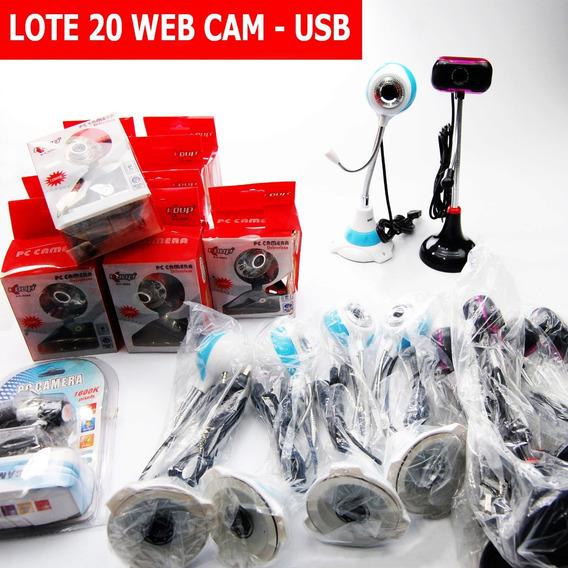 Kit Com 20 Webcam Saida Usb Video Filma Promocao Portatil