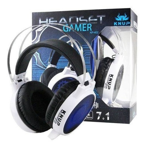 Headset Gamer 7.1 Knup Kp 402 P2 Xbox Fone Ouvido Vibration