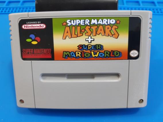 Fitas De Super Nintendo Super Mario All Star + Mario World