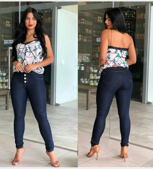 Calça Jeans Feminina Hot Pants Cintura Alta Lycra Promoção