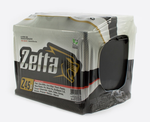 Bateria Para Carro Zetta 45 Amperes