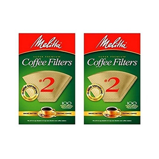 Cone Coffee Filter 2 - Natural Brown 100 Count (paquete De 2