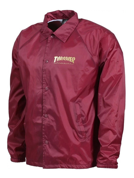 Jacket Thrasher Pentagram Coach Jacket Burgundy