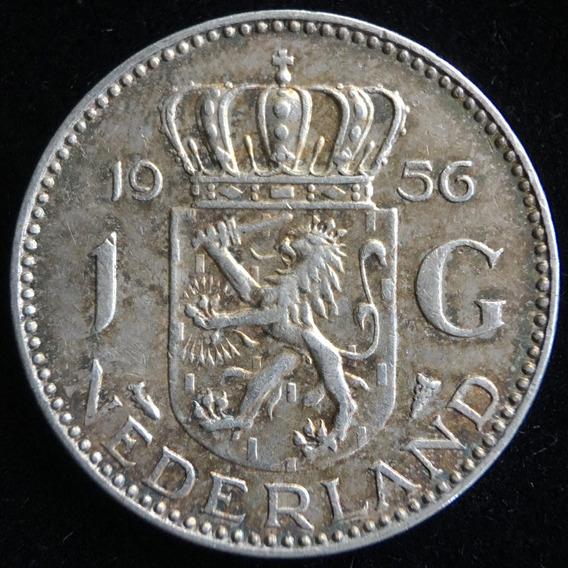 Paises Bajos, Gulden, 1956. Plata. Xf