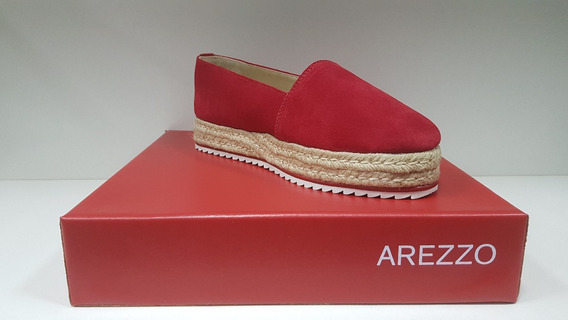 Sapato Salto Baixo Suede- Arezzo -alpargata Suede Plataforma
