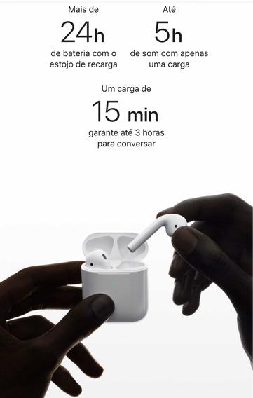 Apple AirPods Fones Sem Fio + Acessórios + Nota