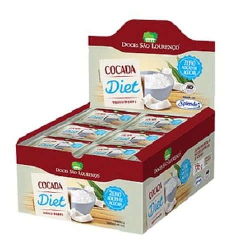 Imagem 1 de 1 de Cocada Pura Diet São Lourenço Display 24x24g
