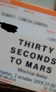 Dos Entradas Thirty Seconds To Mars