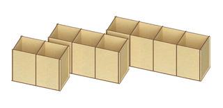 Set Porta Lapices De Escritorio En Madera Mdf, Rg496