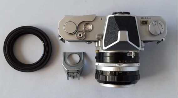 Câmera Analógica Nikkormat Ft Com Nikkor 1.4/50 + Extras