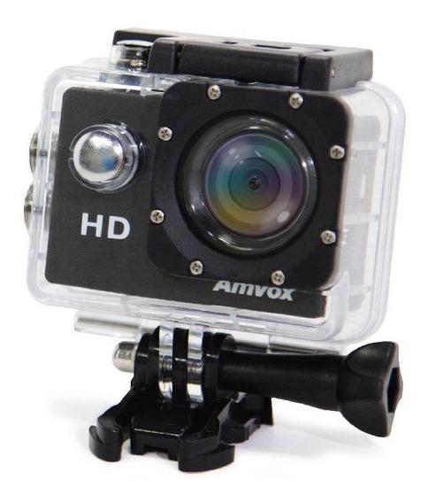 Câmera Digital Filmadora Esporte Capacete Mergulho Amvox