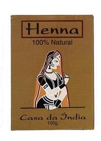 4 Hennas Casa Da Índia Pura 100g Cada