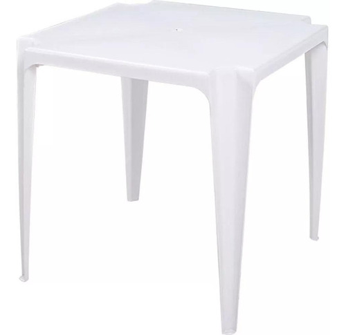 Mesa De Plástico Bela Vista 70x70cm Branco 15151001 Mor
