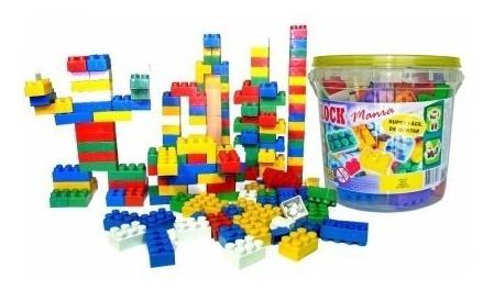 3 Balde De Blocos De Montar Com 52 Peças Brinquedo Educativo