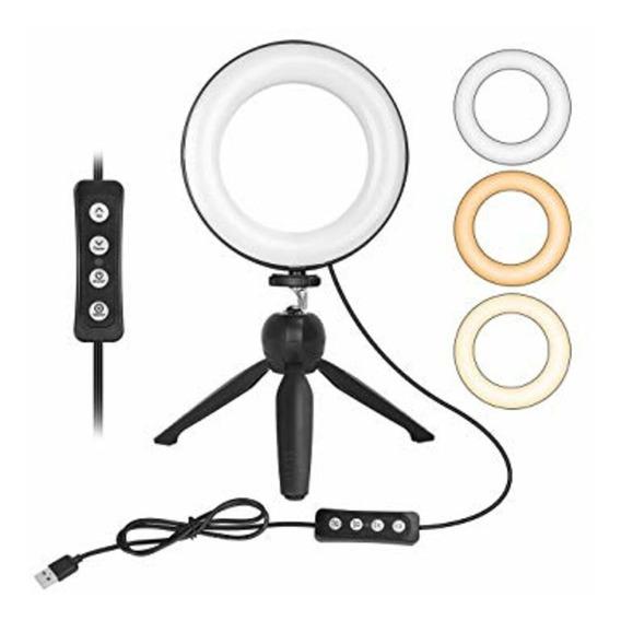 Kit Anel Ring Light Iluminacao Tripe Youtuber 3200k À 5500k